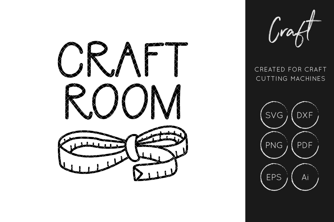 Download Free Craft Room Cut File Craft Sewing Graphic By Illuztrate for Cricut Explore, Silhouette and other cutting machines.