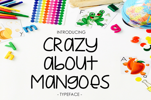 Print on Demand: Crazy About Mangoes Sans Serif Font By yh.seaofknowledge - Image 1
