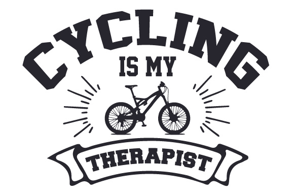 Download Free Cycling Is My Therapist Svg Cut File By Creative Fabrica Crafts for Cricut Explore, Silhouette and other cutting machines.