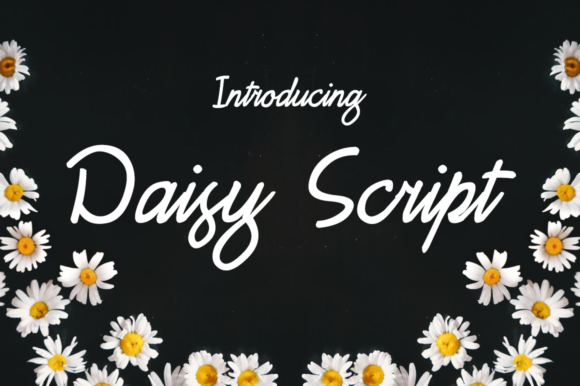 Print on Demand: Daisy Script Script & Handwritten Font By Creative Fabrica Freebies
