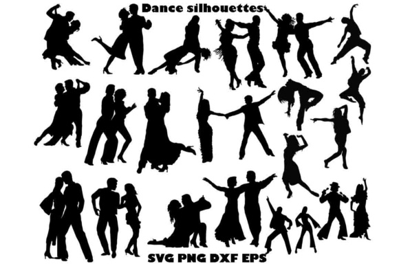 Dance Silhouette SVG DXF PNG EPS Graphic By twelvepapers