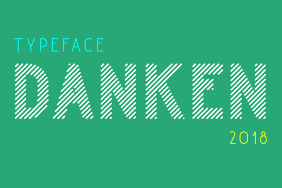 Print on Demand: Danken Display Font By Etewut