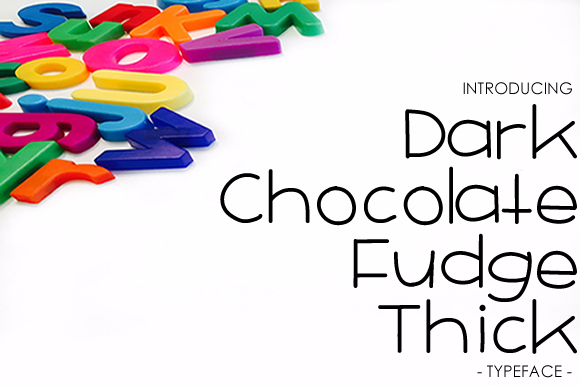 Print on Demand: Dark Chocolate Fudge Thick Sans Serif Schriftarten von yh.seaofknowledge