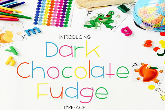 Print on Demand: Dark Chocolate Fudge Sans Serif Font By yh.seaofknowledge