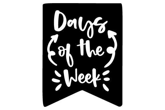 Days of the Week Planner Craft Cut File By Creative Fabrica Crafts