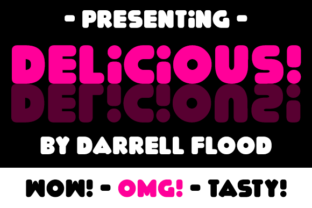 Print on Demand: Delicious Display Font By Dadiomouse