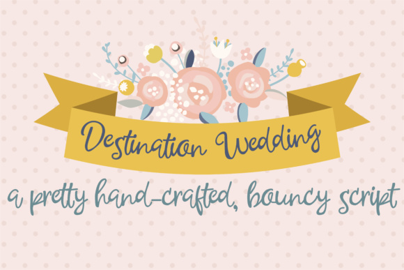 Print on Demand: Destination Wedding Script & Handwritten Font By Illustration Ink