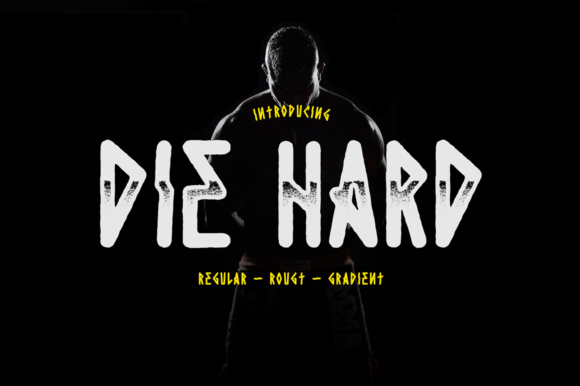 Print on Demand: Die Hard Display Font By madeDeduk