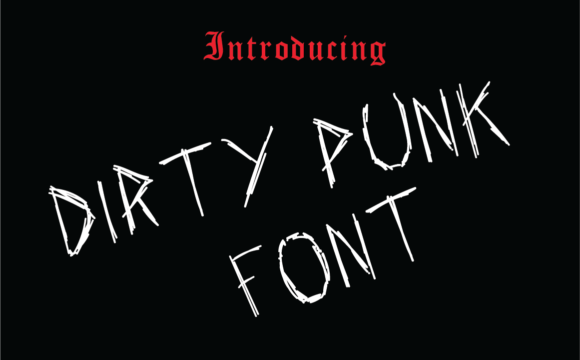 Print on Demand: Dirty Punk Sans Serif Font By hamelinckmichael