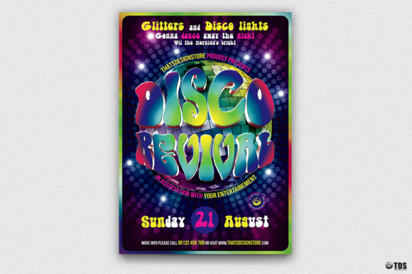 Disco Revival Flyer Template Graphic By Thatsdesignstore Creative