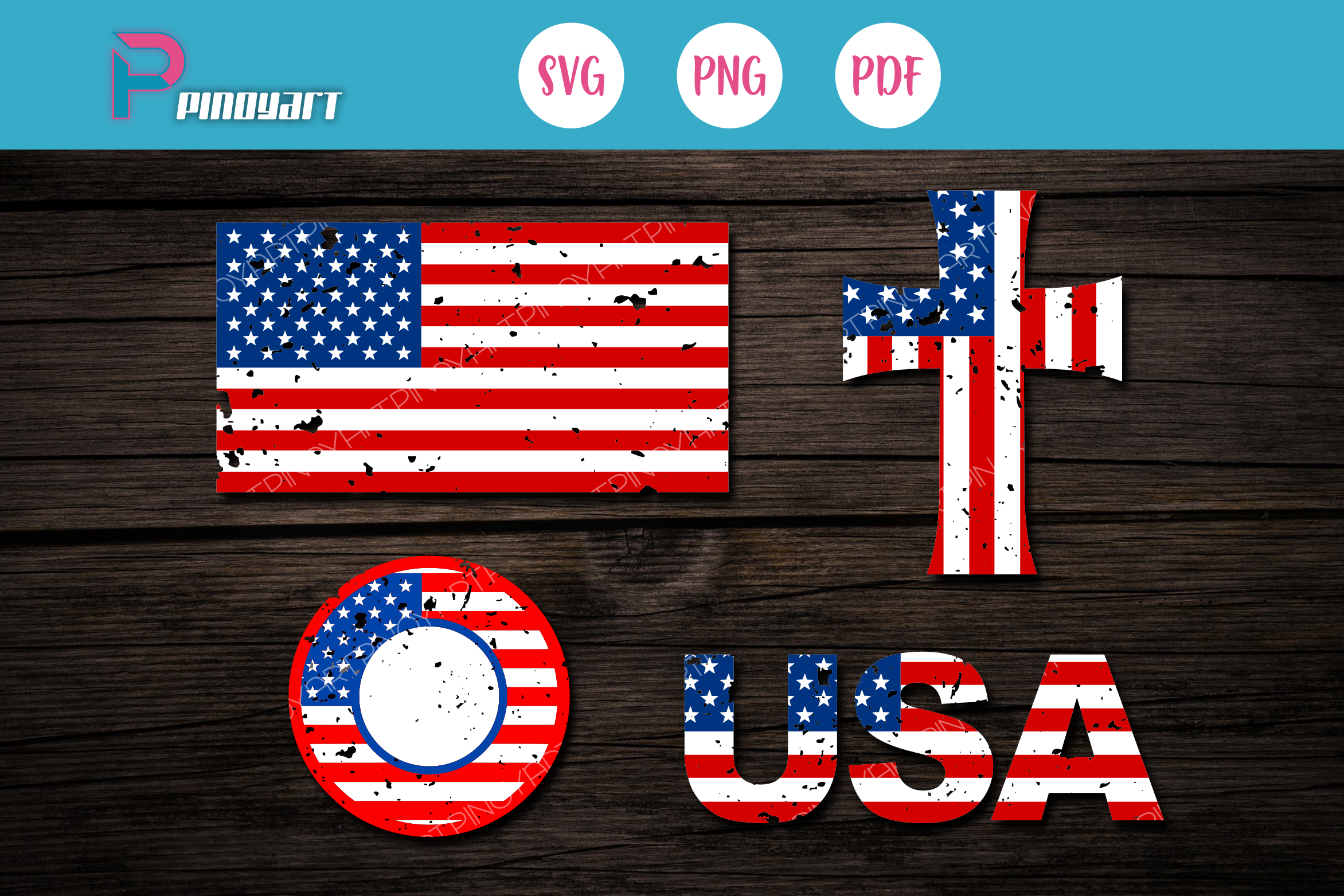 Download Free Distress American Flag Graphic By Pinoyartkreatib Creative Fabrica for Cricut Explore, Silhouette and other cutting machines.