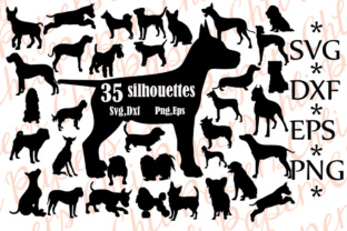 Download Free Dog Silhouette Graphic By Chilipapers Creative Fabrica for Cricut Explore, Silhouette and other cutting machines.