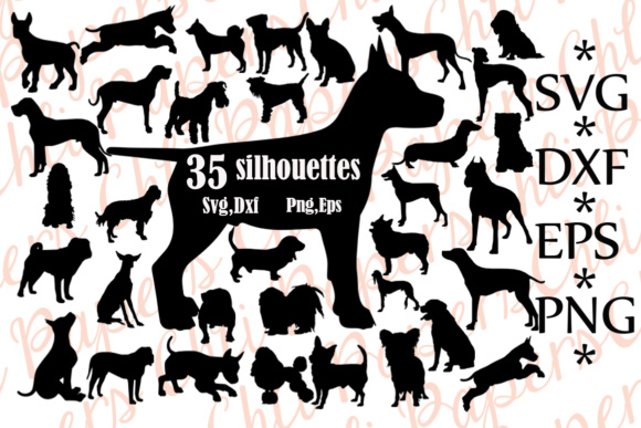 Dog Silhouette   Graphic Crafts By ChiliPapers