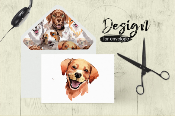 Print on Demand: Dogs Barking New Year PNG Watercolor Set Graphic Illustrations By MyStocks - Image 3