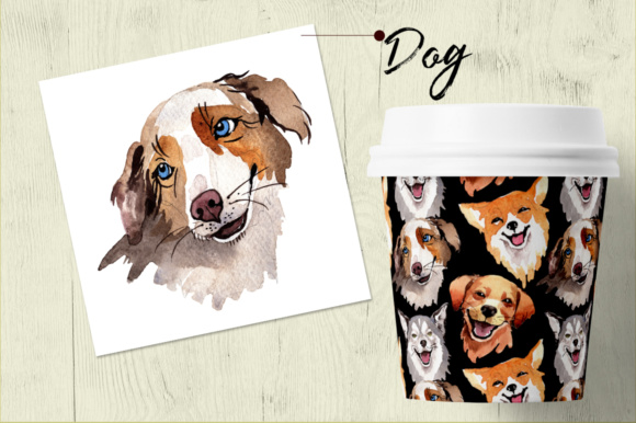 Print on Demand: Dogs Barking New Year PNG Watercolor Set Graphic Illustrations By MyStocks - Image 5