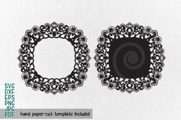Download Free Doily Lace Monogram Grafico Por Cornelia Creative Fabrica for Cricut Explore, Silhouette and other cutting machines.