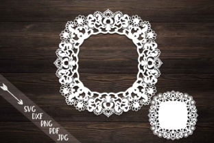 Download Free Doily Lace Monogram Graphic By Cornelia Creative Fabrica for Cricut Explore, Silhouette and other cutting machines.