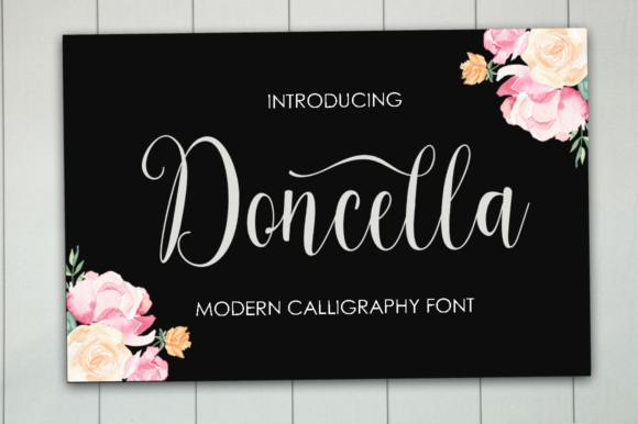 Print on Demand: Doncella Script & Handwritten Font By ayeelastudio