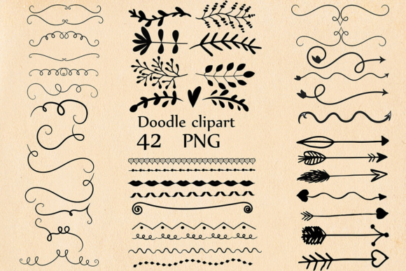 Doodle Clipart Graphic Illustrations By ChiliPapers
