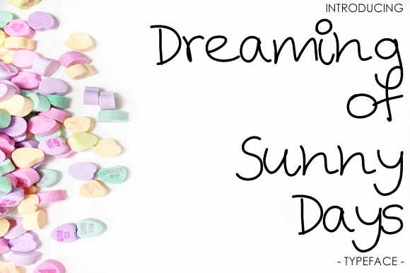 Print on Demand: Dreaming of Sunny Days Script & Handwritten Font By yh.seaofknowledge - Image 1