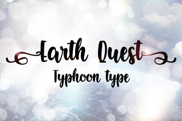 Print on Demand: Earth Quest Script & Handwritten Font By Typhoon Type - Suthi Srisopha