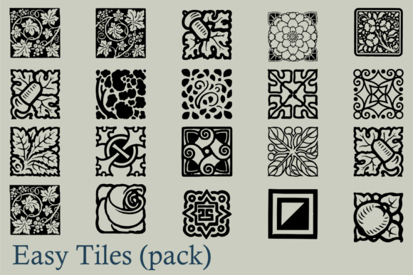 Print on Demand: Easy Tiles Dingbats Font By Intellecta Design - Image 2