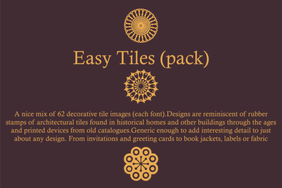 Print on Demand: Easy Tiles Dingbats Font By Intellecta Design - Image 3