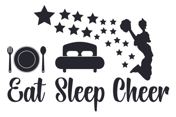 Eat, Sleep, Cheer Craft Design By Creative Fabrica Crafts Image 1