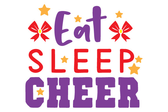 Download Free Eat Sleep Cheer Svg Cut File By Creative Fabrica Crafts for Cricut Explore, Silhouette and other cutting machines.