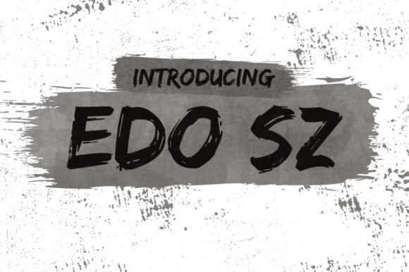 Print on Demand: Edo SZ Display Font By Creative Fabrica Freebies