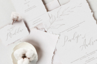 Download Free Elegant Floral Wedding Invitation Suite Graphic By Blue Robin for Cricut Explore, Silhouette and other cutting machines.