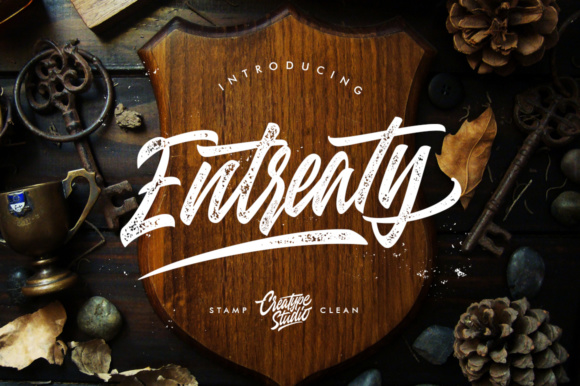 Print on Demand: Entreaty Script Script & Handwritten Font By CreatypeStudio