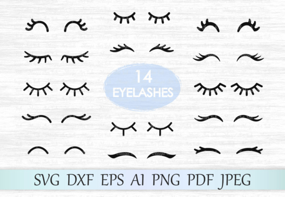 Download Free Eyelashes Graphic By Magicartlab Creative Fabrica SVG Cut Files
