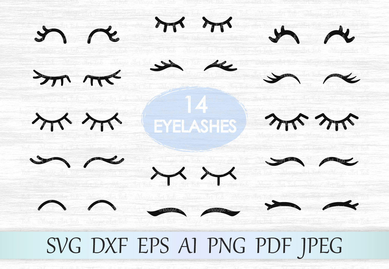 Download Free Eyelashes Graphic By Magicartlab Creative Fabrica for Cricut Explore, Silhouette and other cutting machines.