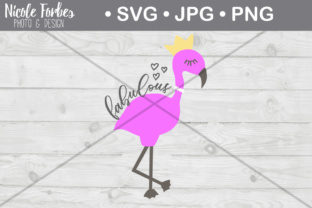 Download Free Fabulous Flamingo Cut File Graphic By Nicole Forbes Designs for Cricut Explore, Silhouette and other cutting machines.