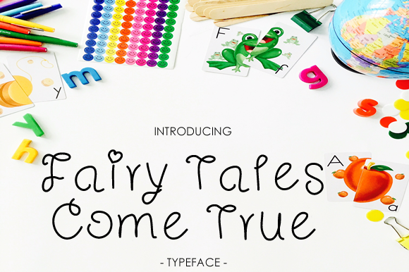 Print on Demand: Fairy Tales Come True Script & Handwritten Font By yh.seaofknowledge