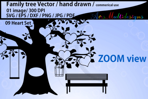 Print on Demand: Family Tree Clipart SVG Graphic Illustrations By Arcs Multidesigns - Image 2