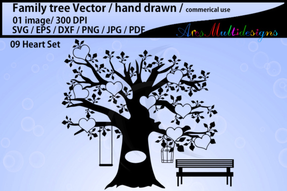Print on Demand: Family Tree Clipart SVG Graphic Illustrations By Arcs Multidesigns
