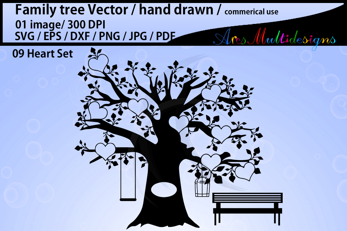 Download Free Family Tree Clipart Svg Graphic By Arcs Multidesigns Creative for Cricut Explore, Silhouette and other cutting machines.