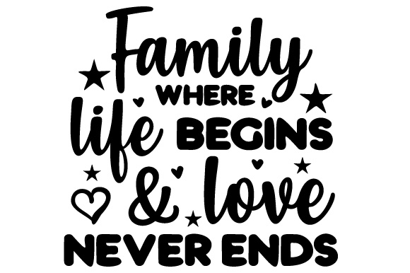 Download Free Family Where Life Begins Love Never Ends Svg Cut File By for Cricut Explore, Silhouette and other cutting machines.