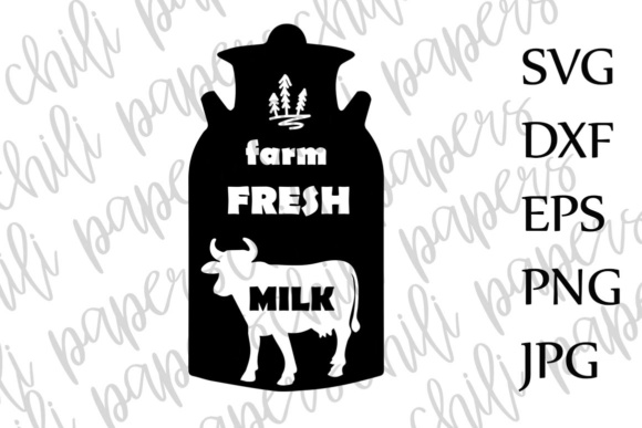 Download Free Farm Fresh Milk Svg Milk Svg Country Svg Dairy Cow Svg Farm Svg for Cricut Explore, Silhouette and other cutting machines.