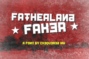 Fatherland Faker Display Font By Chequered Ink