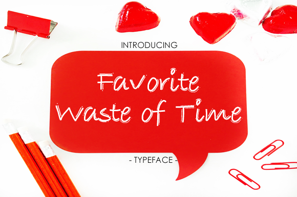 Print on Demand: Favorite Waste of Time Script & Handwritten Font By yh.seaofknowledge