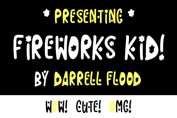 Print on Demand: Fireworks Kid Script & Handwritten Font By Dadiomouse