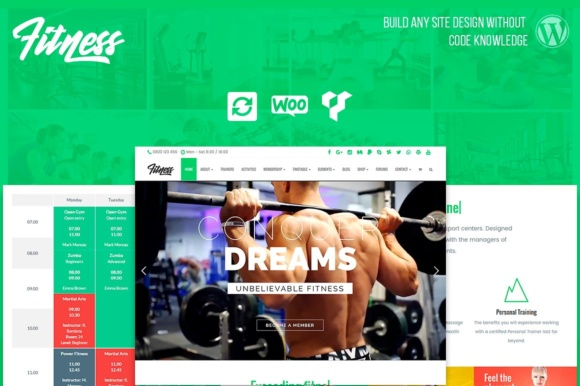 Fitness Responsive WordPress Theme Graphic By Visualmodo WordPress Themes