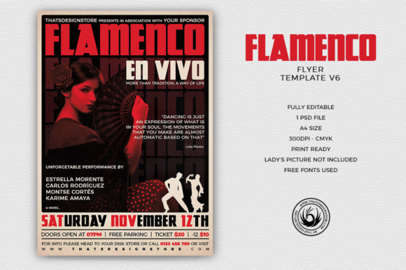 Flamenco Flyer Template Graphic By ThatsDesignStore