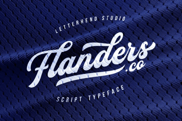 Print on Demand: Flanders Script Script & Handwritten Font By letterhend