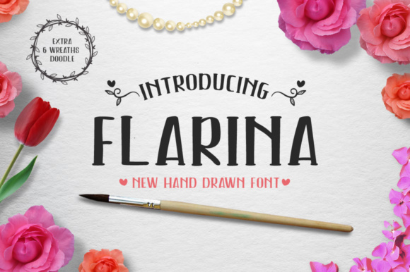 Print on Demand: Flarina Script & Handwritten Font By heybrinc.studio - Image 1