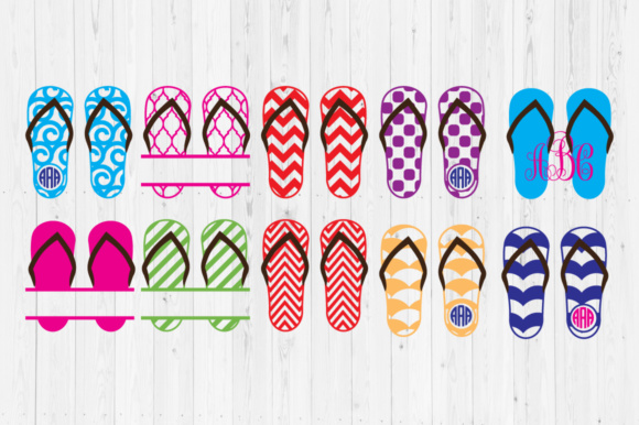 Download Free Flip Flops Cut Files Graphic By Cutperfectstudio Creative Fabrica for Cricut Explore, Silhouette and other cutting machines.