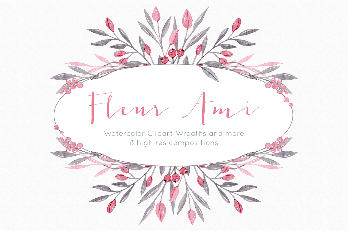 Download Free Floral Wreath Clipart Graphics In Elegant And Romantic Pink Theme for Cricut Explore, Silhouette and other cutting machines.